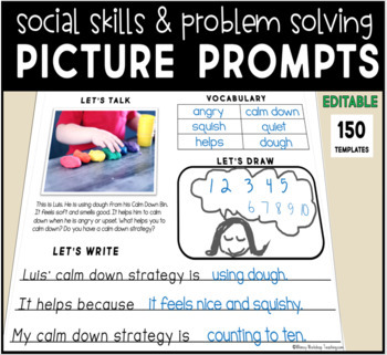 Social Skills Journal Prompts - PAPERLESS and EDITABLE Writing Templates