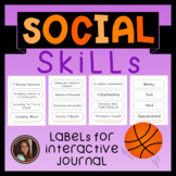 Social Skills Labels for Interactive Journal