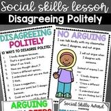Social Skills Lesson: Disagreeing Politely