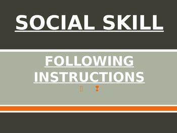Social Skills Lesson: Following Instructions