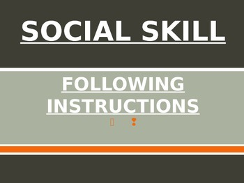 Social Skills Lesson: Following Instructions