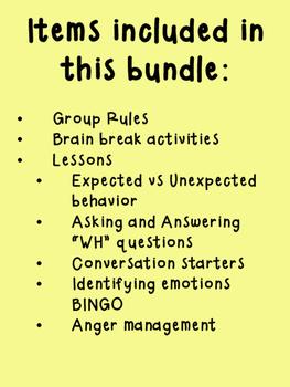 Social Skills Lesson Plan Bundle