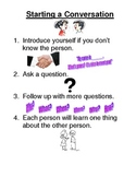"Social Skills Lesson ""Starting a Conversation"""