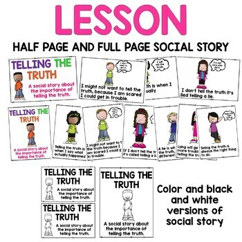 Social Skills Lesson: Telling the Truth
