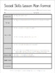 Social Skills Lesson Template with Instructions, Rubric, a
