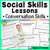 Social Skills Lessons & Worksheets for Conversations   Digital & Print