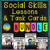 Social Skills Lessons and Task Cards Bundle - Distance Learning
