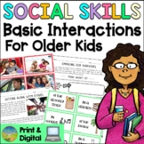Social Skills Lessons for Basic Interactions - Distance Learning