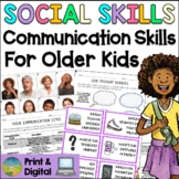 Social Skills Lessons for Communication Skills - Distance Learning