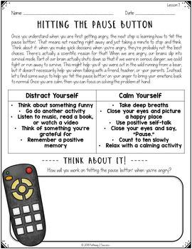Social Skills Lessons for Managing Emotions