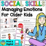 Social Skills Lessons for Managing Emotions - Distance Learning