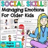 Social Skills Lessons for Managing Emotions   Digital & Pr