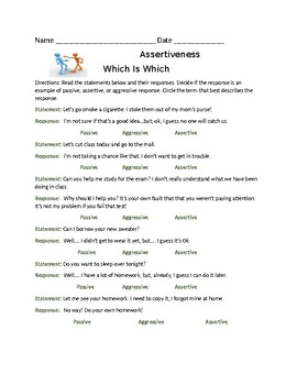 Life Skills Assertiveness Which Is Which Communication Styles