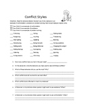 Social Skills/Life Skills: Conflict Styles, Conflict Resol