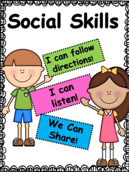 Social Skills: Listening, Following Directions and Sharing