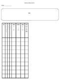 Social Skills/Lunch Data sheet