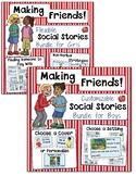 Social Skills: Making Friends Social Stories-EDITABLE Bundle