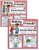 Social Skills: Making Friends Social Stories-EDITABLE Bundle