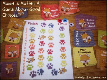 Manners Matter - Behavior Game, Coloring Puzzle Pages, and Bulletin Board