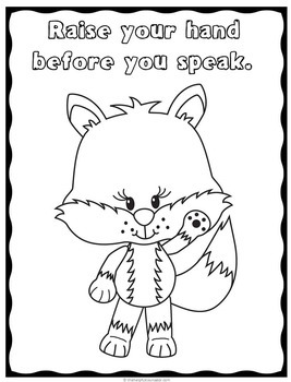 coloring pages for good manners - photo#5