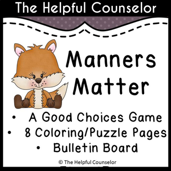 Manners Matter - Behavior Game, Coloring Puzzle Pages, and