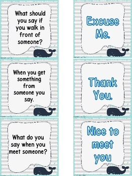 Social Skills Matching File Folder -What to say when ____  happens.