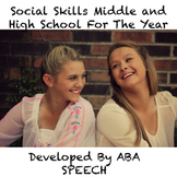 Social Skills Middle and High School For The Year
