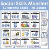 Social Skills Monsters 16-Week Program MegaBundle - Printa