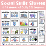 Social Skills Monsters 16-Week Program MegaBundle - Printa