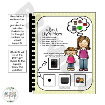 Mother's Day Perspective-Taking and Social Inferencing Boom Cards™ & Booklet