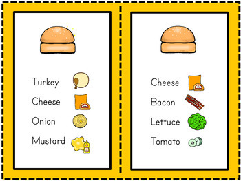 Play Skills Social Skills (Autism and PreSchool) Sandwich Shop