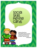 Social Skills Playing Cards