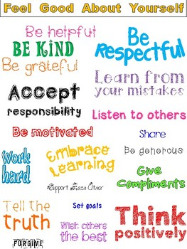 Social Skills Poster - Feel Good About Yourself