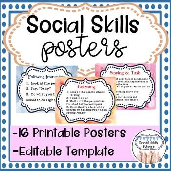 PBIS Social Skills Posters