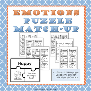 Social Skills Practice: Emotion Puzzle Match-Up