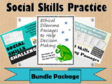 Social Skills Practice & Ethical Dilemma Reading Passages Bundle