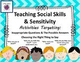 Social Skills & Pragmatics Teaching Sensitivity Difficult