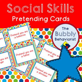 Social Skills Pretending Cards
