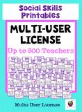 Social Skills Printables for Students with Autism: School License (to 300 Users)