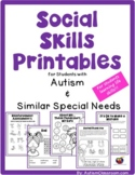 Social Skills Printables for Students with Autism & Simila