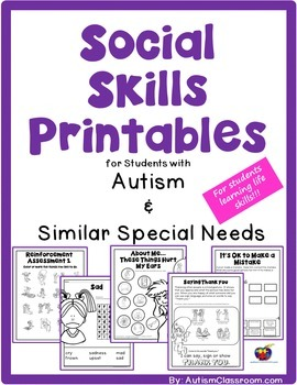 Social Skills Printables for Students with... by Autism Classroom ...