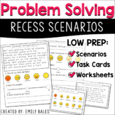 Social Problem Solving Task Cards l Social Emotional Learning Activities