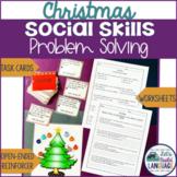 Social Skills Problem Solving: Christmas with BONUS Boom Cards™