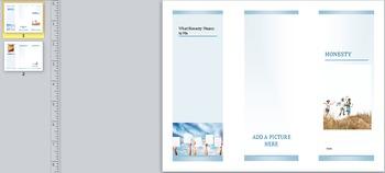Social Skills Project: Honesty Brochure
