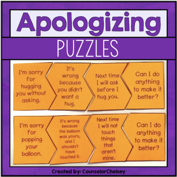 Social Skills Puzzles - Apologizing