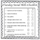 Social Skills Reflection Journal (Weekly)