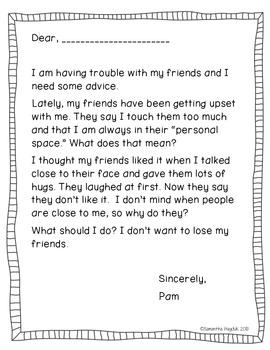 Social Story Reinforcement Writing Activities