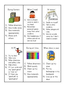 Social Skills Reminder Cards