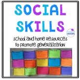 Social Skills Resources for Home and School Generalization