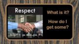 Social Skills Respect Lesson - 5 Video links PBIS Character Ed PBIS